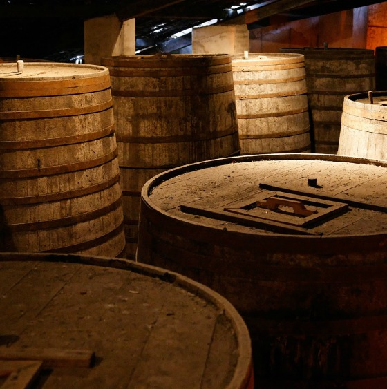 Cachaça_barrels_at_Ypióca's
